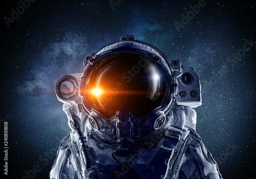 Obraz na plátně First trip to space. Mixed media