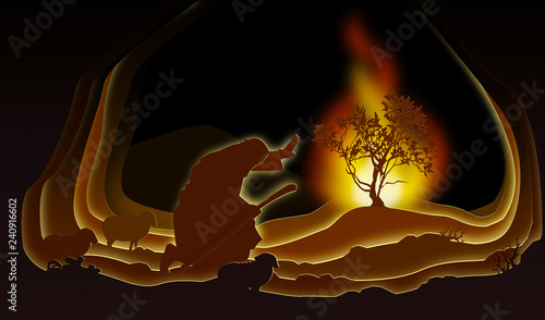 Fotografie, Obraz Moses and the Burning bush