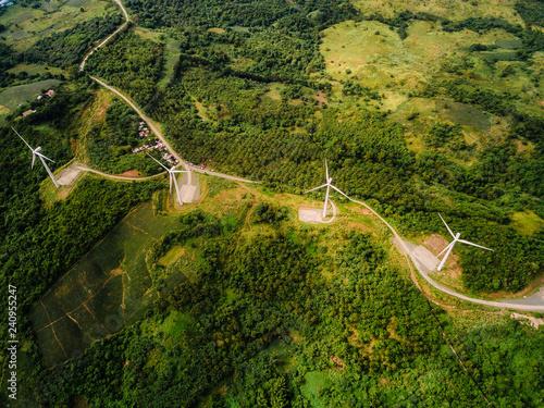 Fototapeta Wind farm in the mountain