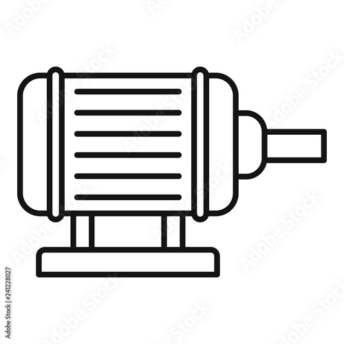 Fototapeta Motor pump irrigation icon