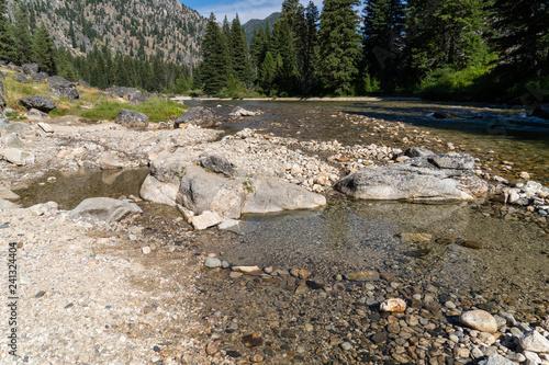 Tablou Canvas Natural geothermal hot spring in Idaho - Sacajawea Hot Springs in Grandjean