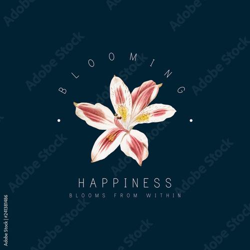 Lily flower badge Fototapet