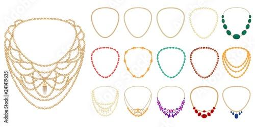 Fototapeta Necklace icon set