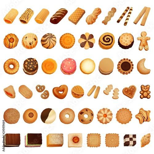 Fototapeta Biscuit icon set