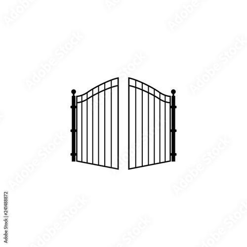open gate logo Fototapete