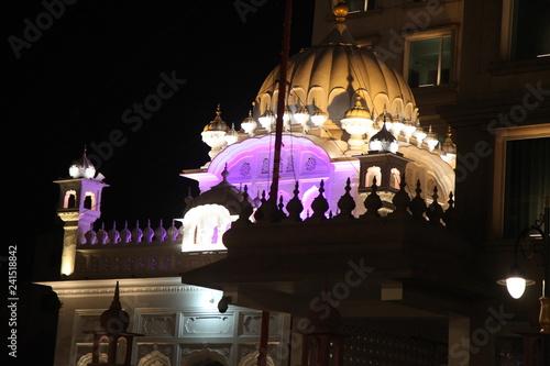 AMRITSAR PUNJAB PROVINCE OF INDIA AKAL TAKHT PHOTO OF NIGHT