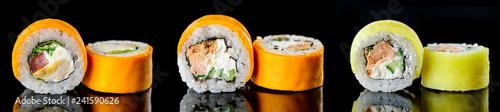 Canvas-taulu Sushi pieces Japanese food, Sushi menu