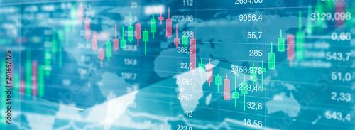 Fotografia Aktien handel - Finanzmarkt