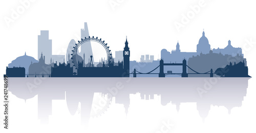 Canvas Print london in flat stile vector