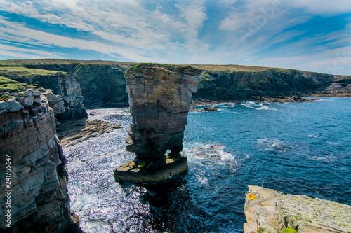 Foto Yesnaby Cliffs - Coast line of Orkney, Scotland