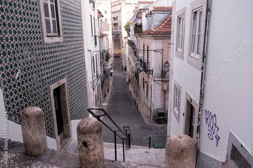Canvas Print Straße in Lissabon