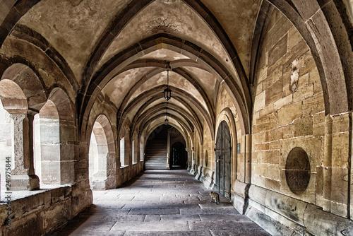 Canvas Print Maulbronn Monastery, former Cistercian abbey, UNESCO World Heritage Site, Maulbr