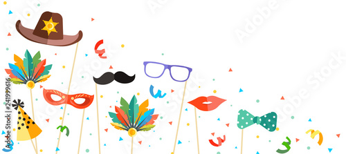 Foto colorful carnival background in photo booth style