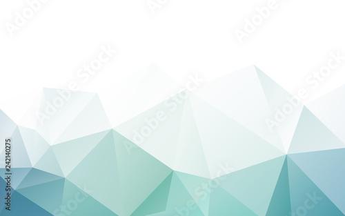 Wallpaper Mural blue green triangle polygonal geometric design