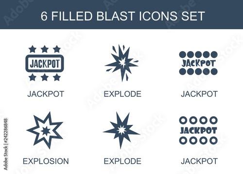 Fototapeta 6 blast icons