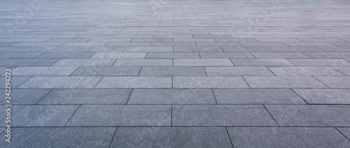 Photo Grey brick stone street road. Light sidewalk, pavement texture