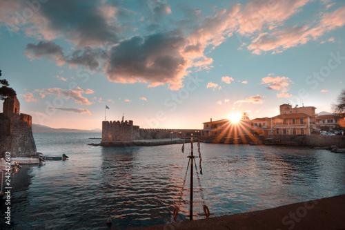 Nafpaktos Greece sunset