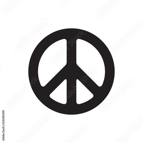 Billede på lærred Peace symbol vector illustration