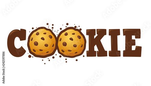 Photo Cookie Logo Custom Typography
