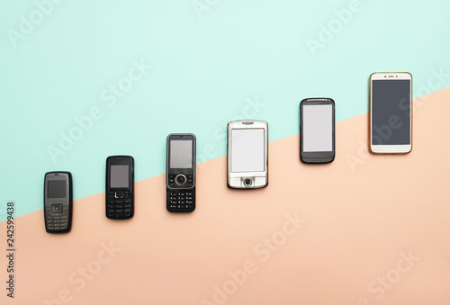Fotografie, Tablou evolution of cell phones