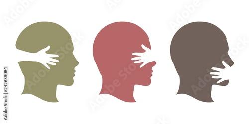 Photo Профиль человека слух зрение голос
