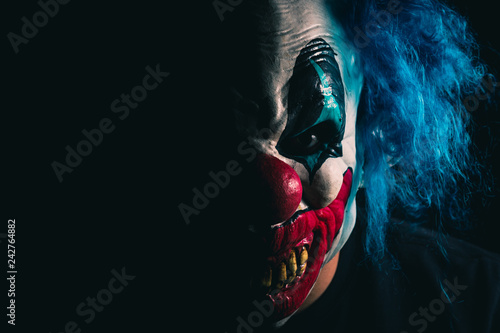 Creepy Clown Portrait Tapéta, Fotótapéta