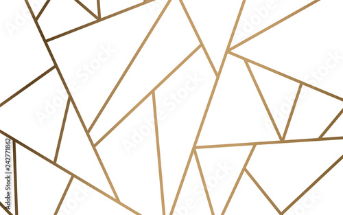 Photo Modern mosaic wallpaper in white and gold