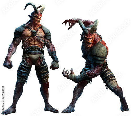Fotografía Demons or devils 3D illustration