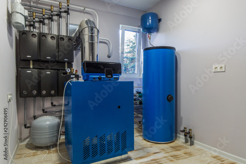Canvastavla Gas Boiler room in a private house