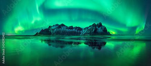 Canvas Print Stokksnes aurora
