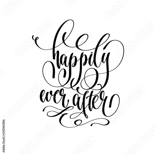 Valokuva happily ever after - hand lettering