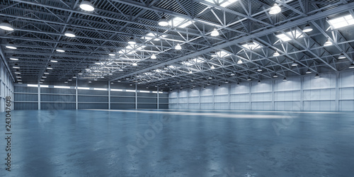 Obraz na płótnie Empty warehouse or storehouse.