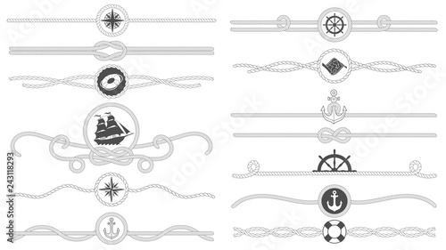 Fotografia, Obraz Nautical rope border