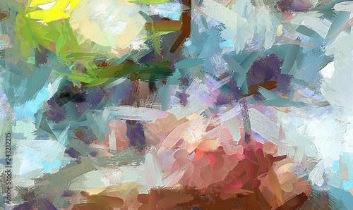 Obraz na plátně Oil pastel drawing
