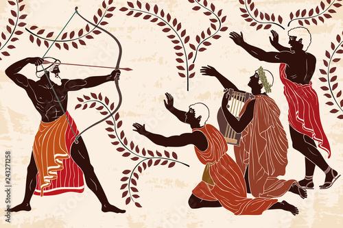 Wallpaper Mural Mythological story of Homer
