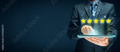 Fotografia Feedback, review and rating concepts