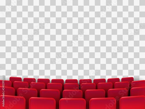 Cuadros en Lienzo Cinema seats isolated