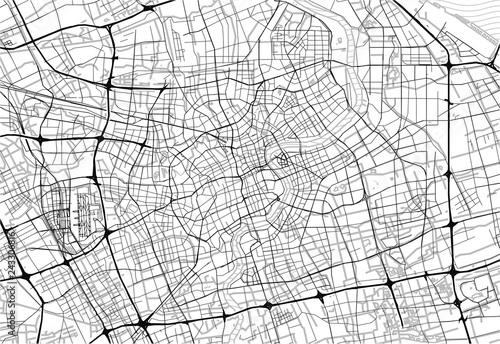 Obraz na plátně Area map of Shanghai, China