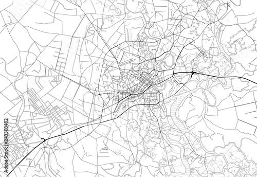 Area map of Ho Chi Minh City, Vietnam Fototapeta