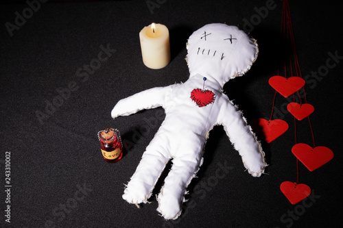 Canvas Print Voodoo doll for a love spell