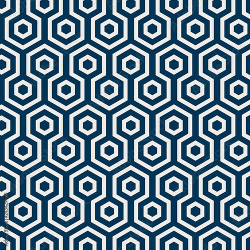 Fototapeta Seamless Japanese pattern with tortoiseshell motif vector