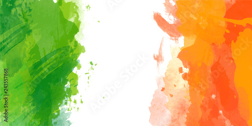 Canvas Print Vector watercolor flag of Ireland for Patricks day