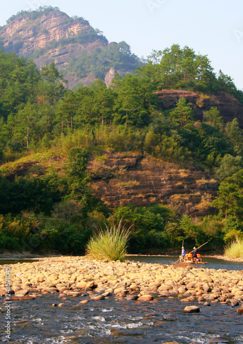 Rafting on the River of Nine Bends, Wuyi Mountains, Fujian province, China