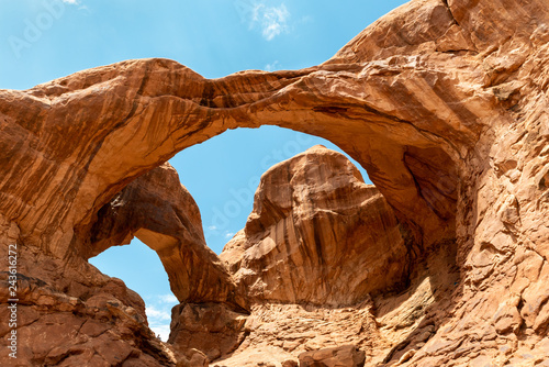 Foto Double Arch seen from Double Arch Trail in Arches National Park, Utah