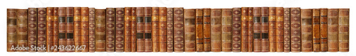 Аntique books on white background