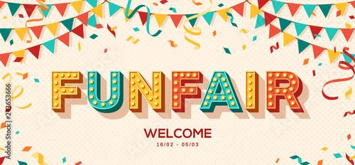 Fotografie, Tablou Funfair retro typography design