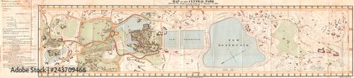 1860, Mapa kieszonkowa Central Parku w Nowym Jorku