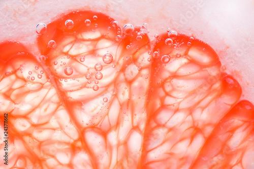 Obraz na płótnie grapefruit close - up macro