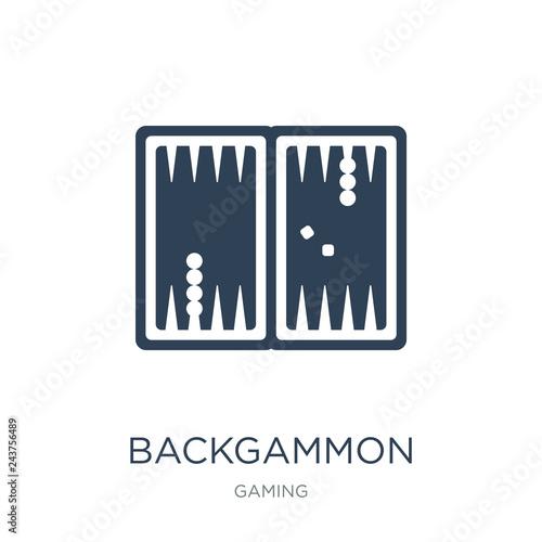 Murais de parede backgammon icon vector on white background, backgammon trendy fi