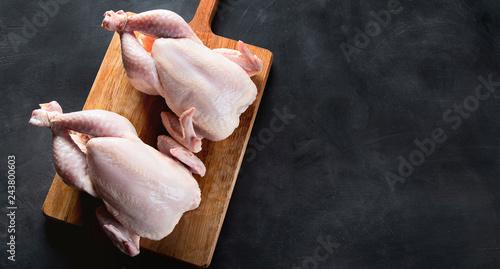 Fotografia Whole raw chicken